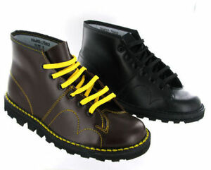 Monkey-Boots-Grafters-Original-Leather-Cherry-Red-Wine-Black-Mens-Womens-Ladies