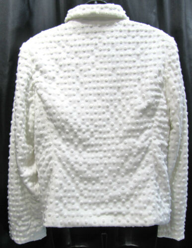 Nubby Travel Fur Town Full Top New Zip 12 Faux cappotto Ivory Blazer Size L Giacca wq4wTfWgAc