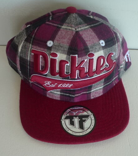 "Dickies ""Mansfield"" Round Brim Snap Back Cap OSFM Cherry Plaid"