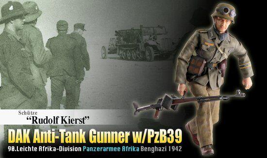 Dragon 1 6 Scale 12'' WWII German DAK Anti-Tank Gunner Rudolf Kierst 70820