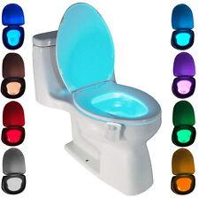 Veilleuse LED Lampe de Toilette, WC Capteur 8 Changement de Couleurs Éclairage