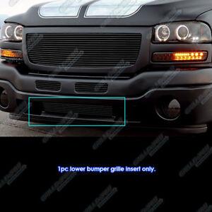 2004 Gmc Sierra 1500 >> Details About For 2003 2004 Gmc Sierra 2500 2003 Sierra 1500 2500hd Black Bumper Billet Grill
