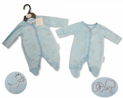 Tiny Baby Premature Boys Girls Babygrow All in One Velour 3 5 8 lbs 70 72 73