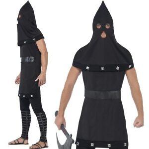 uomo-vestito-per-Halloween-DUNGEON-MASTER-Boia-Costume-Nero-Da-Smiffys