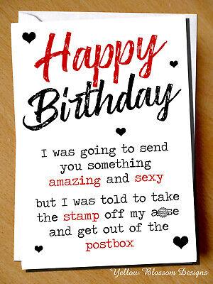 Anniversary Greetings Card Funny Comedy Humour Cheeky Joke Husband Wife Mini