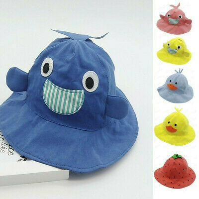 Children Toddler Baby Kids Boys Girls Cartoon Animal Sun Cap Fisherman Sun Hat