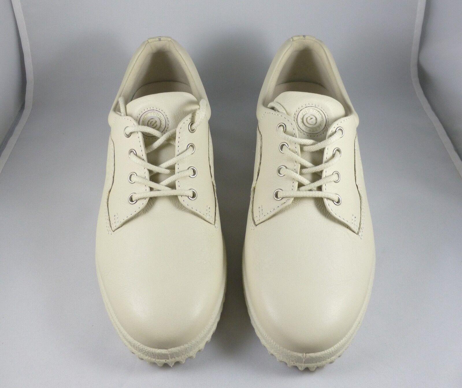 l'ultimo NEW    ECCO Soft Ladies beige  ice bianca  Leather Lace Up scarpe Donna  38   7.5 M  spedizione gratuita