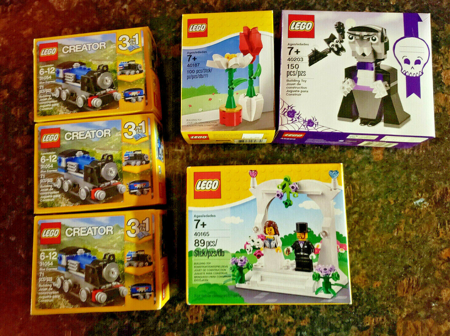 6 Lego Sets 40203 & 40165 & 40187 & 3 off  31054  New never open Sealed in Box.