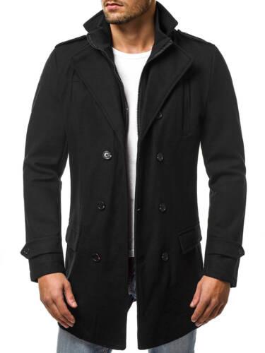 OZONEE Uomo Inverno Cappotto Coat Inverno Giacca Cappotto Giacca collo alla coreana js//nz02