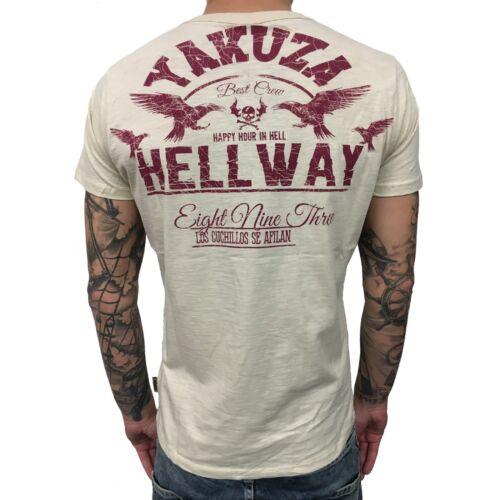 """Yakusa-T-Shirt Hommes TSB 9002 /""""hellway/"""" Silver Birch Clair Beige"""