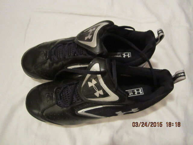 new concept b96a3 4cfc0 Preowned Men s Size 10 1 2 Under Armour Black Cleats Cleats Cleats 1a10d1