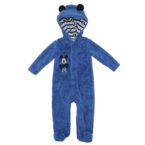 DISNEY BABY manteau combi pilote combinaison MICKEY 0-3 3-6 ou 6-9 mois bleu