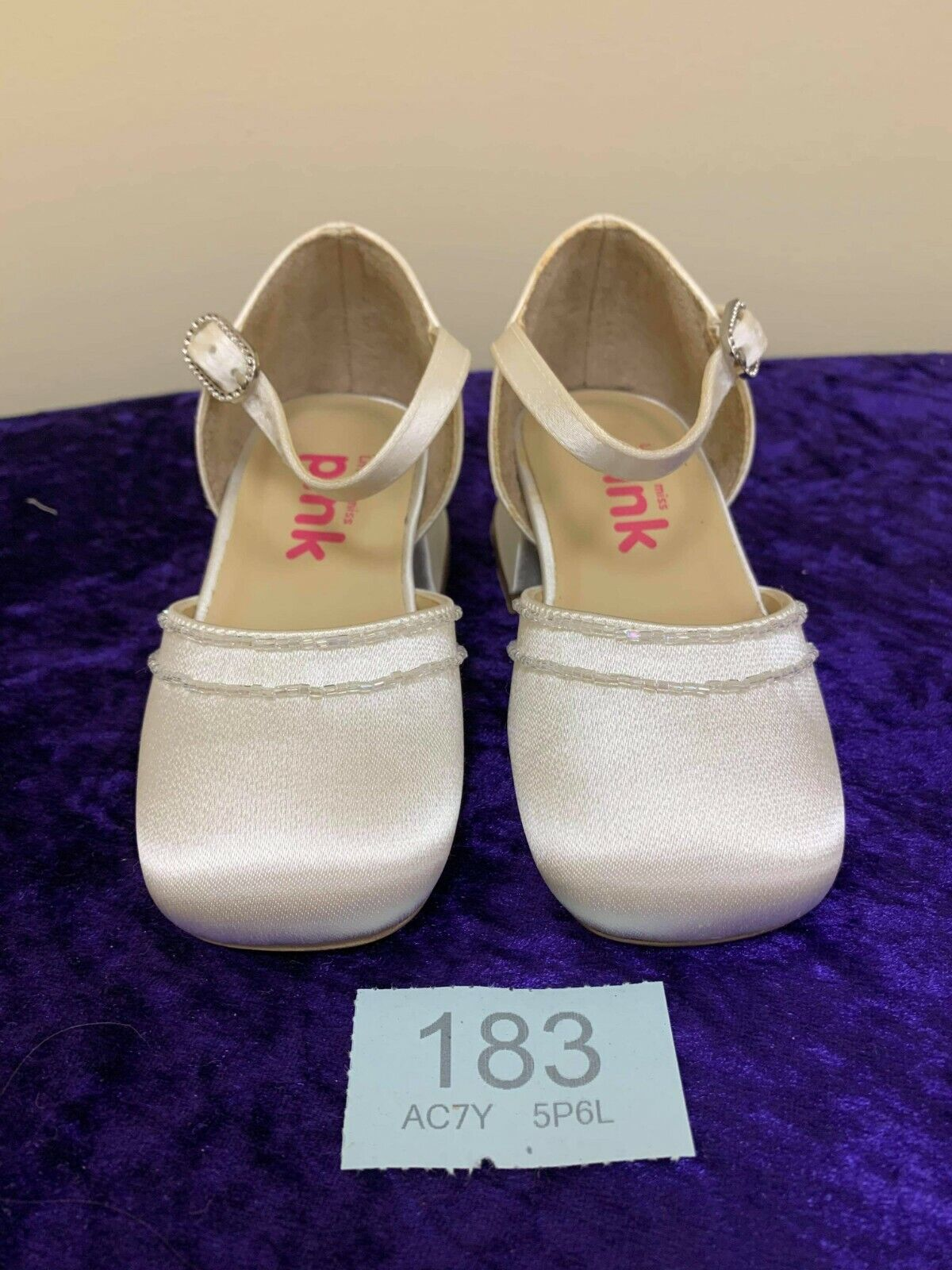 New Children's wedding party shoes Size 25 ivory satin code 183 style Sweet Pea