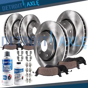 Front & Rear Disc Brake Rotors & Ceramic Pads Chevy Malibu Cobalt Pontiac G5 G6