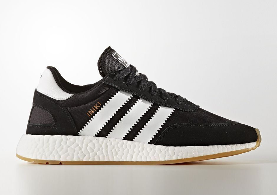 Adidas INIKI Runner size 14. Black White Gum. BY9727. nmd ultra boost pk