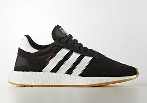reputable site 322fa f0a47 Image is loading Adidas-INIKI-Runner-size-14-Black-White-Gum-