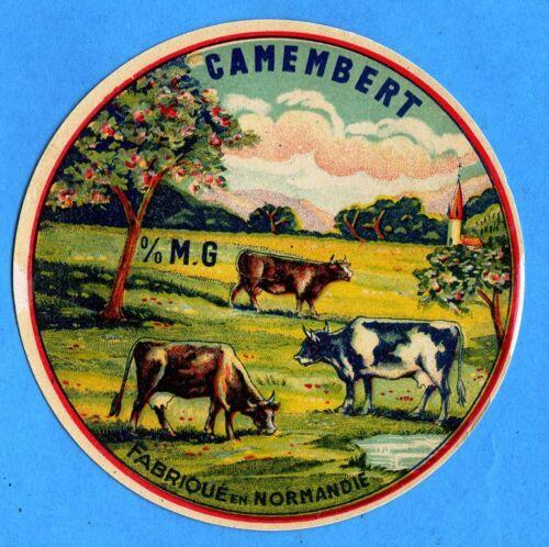 Tres belle étiquette de Camembert ancienne Normandie