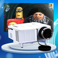 X'MAS HD Portable MINI Home Theater Multimedia LED Projector 1080P AV VGA USB SD