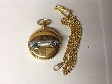 Alfa Romeo Kham Tail ref3 pewter effect car emblem on polished gold pocket watch