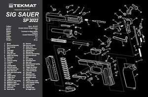 For Sig Sauer Sp2022 Armorers Gun Cleaning Bench Mat