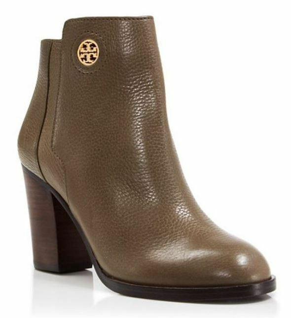 Tory Burch Junction Women's Porcini Tumbled Leather Ankle Booties