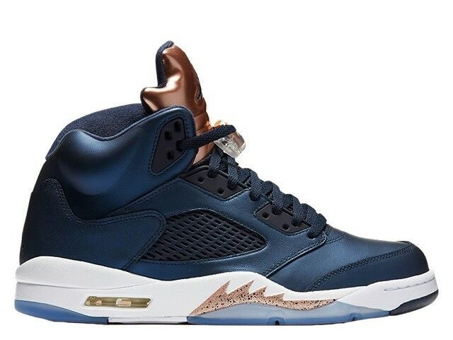 Men's Air Jordan 5 Retro OBSIDIAN WHITE-MTLC RED BRONZE 136027-416 size 10