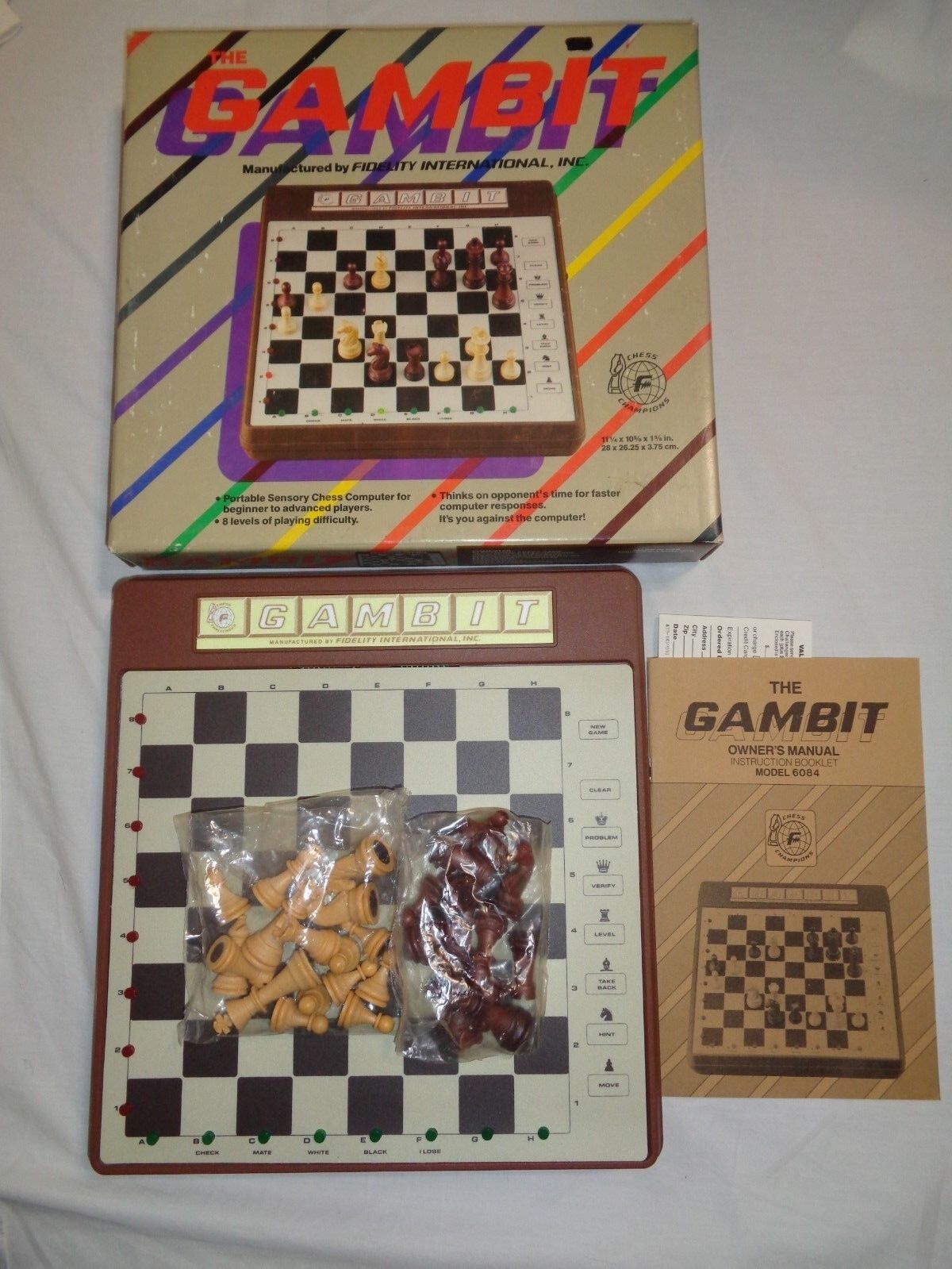 THE GAMBIT Chess Computer Model 6084 by Fidelity International, INC.