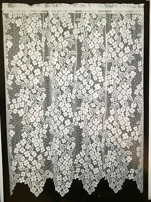 "Heritage Lace ECRU Dogwood Window Valance 55/""W x 18/""L"