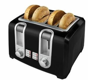 4-Slice-Extra-Wide-Slot-Black-Toaster-with-Browning-Control