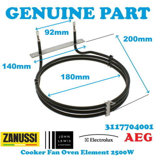 Details about  /ZANUSSI ZCE7701CH ZCE7701X ZCE7702X Cooker Oven Fan Heating Element 2500W
