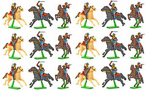 Britains-Deetail-7th-Cavalry-18-Mounted-Figures-hand-painted-mint-on-card