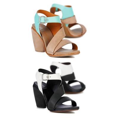 EMU Australia Dawn Womens Ladies Leather Block Heels Sandals Strappy Summer Size