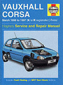 Haynes-Car-Manual-Vauxhall-Corsa-93-97-Service-and-Repair-Manual