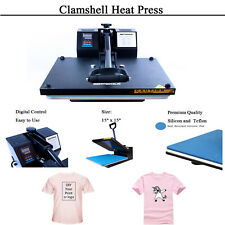 15x15digital Clamshell Transfer Sublimation Heat Press Machine Flat Diy Shirt