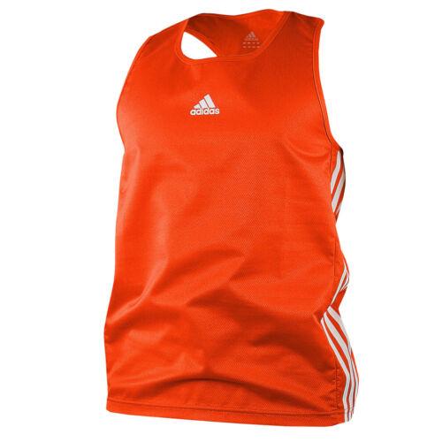 Orange//White Adidas Amateur Boxing Tank Top Shirt