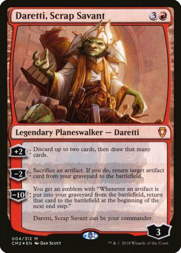 MTG Rare Mythic Foil Daretti Commander Anthology 2 Scrap Savant x 1 NM