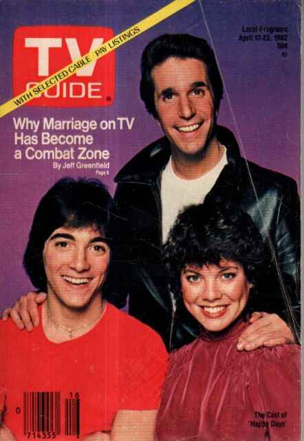 1982 TV Guide April 17 - Scott Baio - Joanie Loves Chachi; Madge Sinclair;Nurse