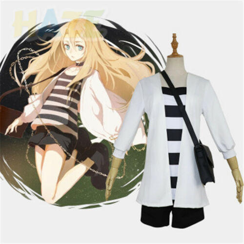 Angels of Death Ray Rachel Gardner Cosplay Costume Uniform Outfit Bag+Choker