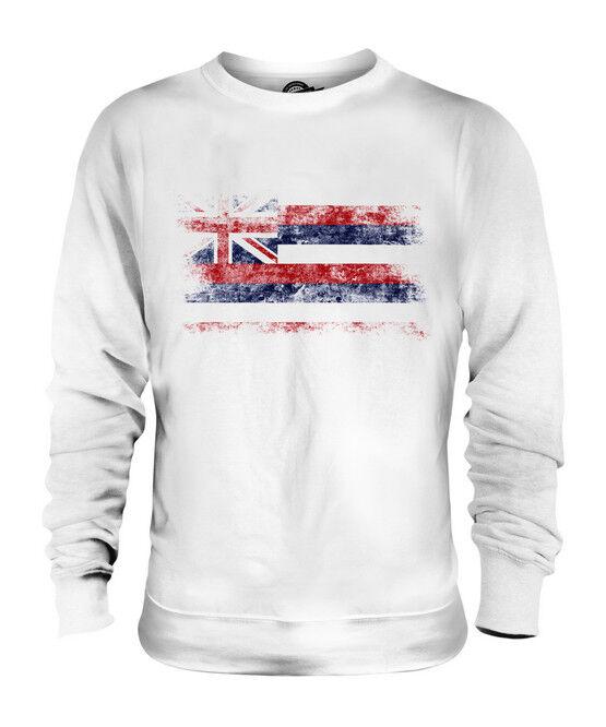 HAWAII STATE DISTRESSED FLAG UNISEX SWEATER TOP HAWAIIAN SHIRT JERSEY GIFT
