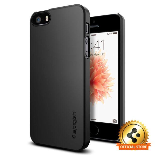 new style a9352 64550 Apple iPhone SE 5s 5 Case Spigen Thin Fit Black Adds No BULK