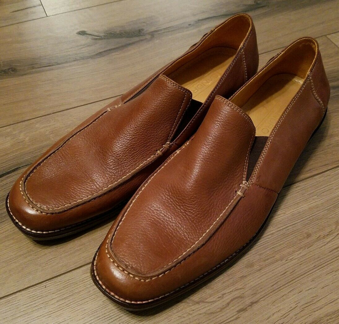 Sandro Moscoloni Mens Tan Leather Loafer Size 11D Style 35038 Excellent...