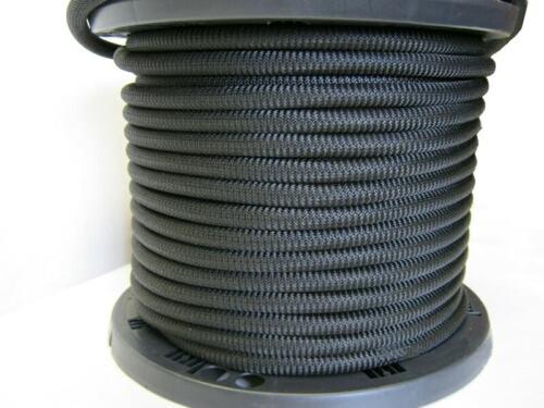 "3//8/"" Black Bungee Cord Marine Grade Heavy Duty Shock Rope Tie Down Stretch Band"