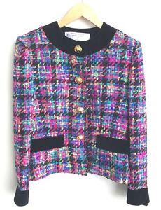 Womenstyl Chaqueta talla rosa 40 de damas de Nouvelle azul y blazer FzUHF7g4