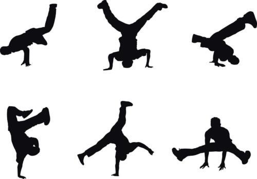 BREAKDANCE 6 Dancers Decal WALL STICKER Home Decor Art Vinyl Silhouette ST51