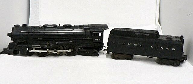 VINTAGE LIONEL ELECTRIC TOY TRAIN LOCOMOTIVE AND AND AND COAL TENDER 23dd3a