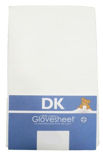 Dk Algodón Jersey hoja cabida Blanco para caber Colchón Tamaño 127 X 63 Cm