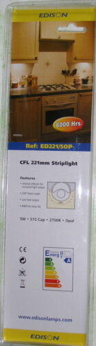 221mm warm white S15 strip lamp 5W ENERGY SAVING CUPBOARD//PICTURE LIGHT BULB