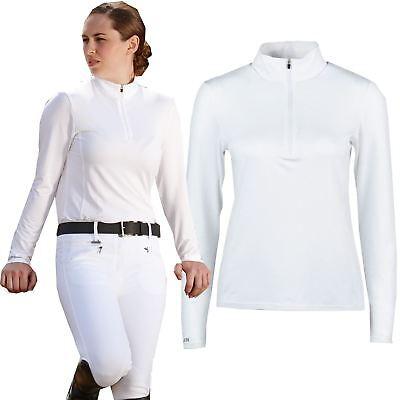 54d8d56b15a38d Dublin Tina Ladies Horse Riding Showing Long Sleeve Zip Stock Collar Show  Shirt   eBay