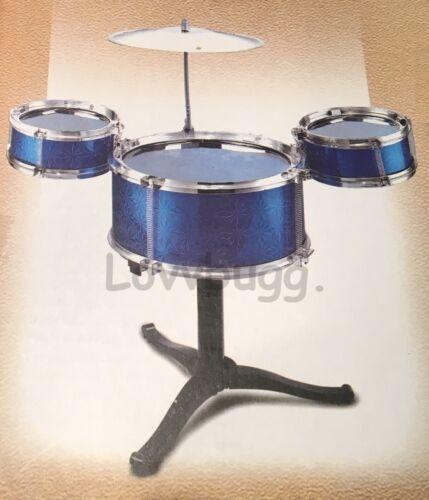 Blue Drums Set Mini for American Girl 18 Doll Accessory Boy Logan or Wellie