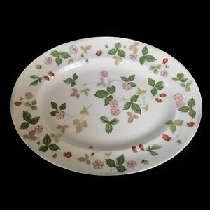 Details About Wedgwood Wild Strawberry Small Oval Meat Plate Serving Platter